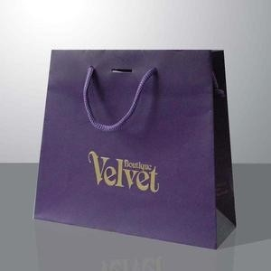 Elegant Design Printed Paper Bags Biodegradable With Satin Ribbon