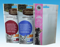 Vivd Printing Effect Stand up Pet Food Ziplock Packaging Dog Food Plastic Bag